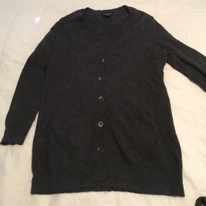 Grey/black cashmere Lord and Taylor Sweater